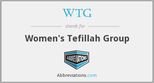 WTG - Women's Tefillah Group