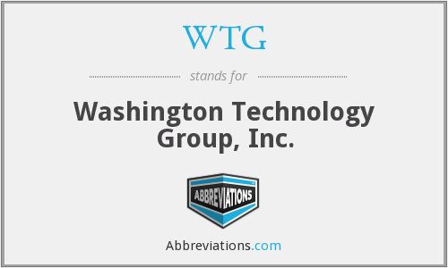 WTG - Washington Technology Group, Inc.