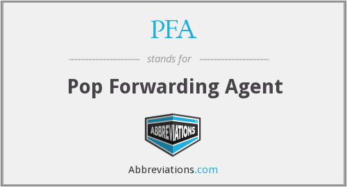 PFA - Pop Forwarding Agent