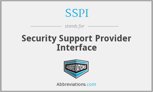 SSPI - Security Support Provider Interface