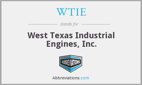 What does WTIE stand for?
