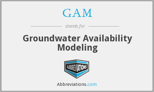 GAM - Groundwater Availability Modeling