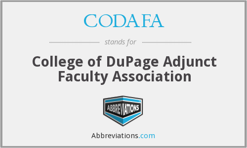 CODAFA - College of DuPage Adjunct Faculty Association