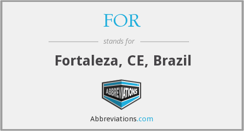 FOR - Fortaleza, CE, Brazil