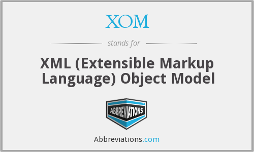 XOM - XML (Extensible Markup Language) Object Model