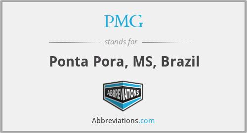PMG - Ponta Pora, MS, Brazil