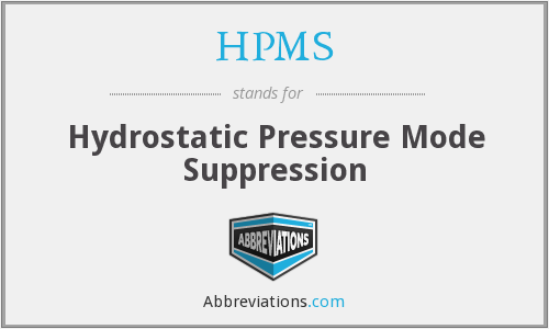 HPMS - Hydrostatic Pressure Mode Suppression