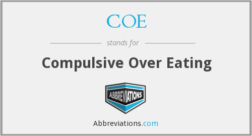 COE - Compulsive Over Eating