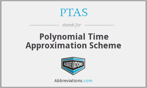 PTAS - Polynomial Time Approximation Scheme