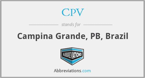 CPV - Campina Grande, PB, Brazil
