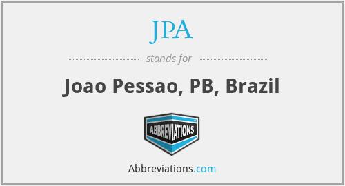 JPA - Joao Pessao, PB, Brazil