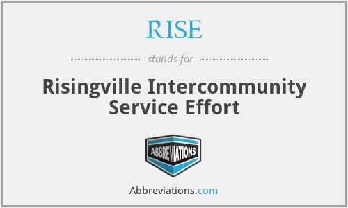 RISE - Risingville Intercommunity Service Effort