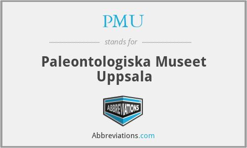 PMU - Paleontologiska Museet Uppsala