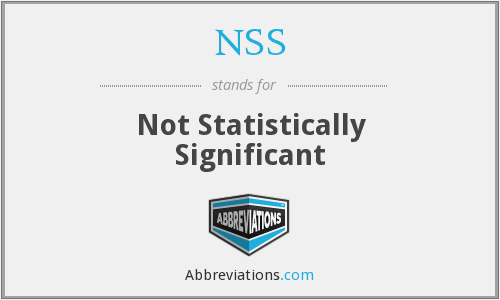 NSS - Not Statistically Significant