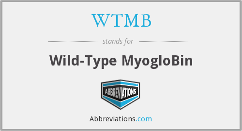 WTMB - Wild-Type MyogloBin