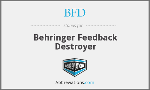 BFD - Behringer Feedback Destroyer