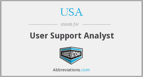 USA - User Support Analyst