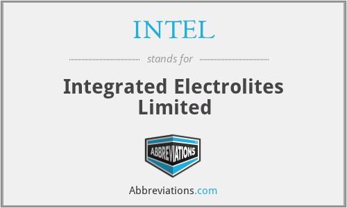 INTEL - Integrated Electrolites Limited