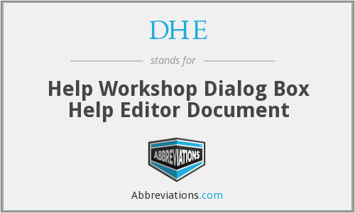 DHE - Help Workshop Dialog Box Help Editor Document