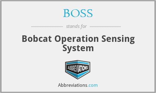 BOSS - Bobcat Operation Sensing System