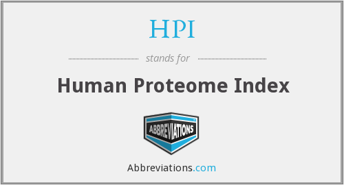 HPI - Human Proteome Index