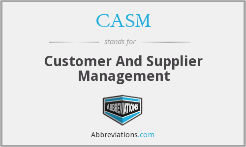 CASM - Customer And Supplier Management