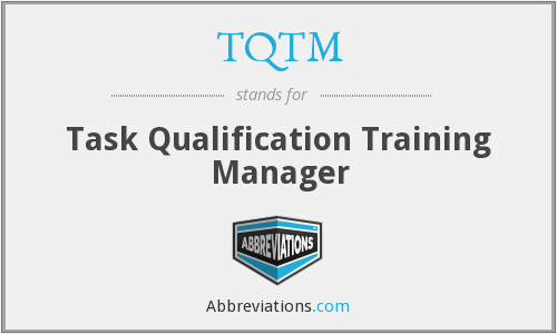 TQTM - Task Qualification Training Manager