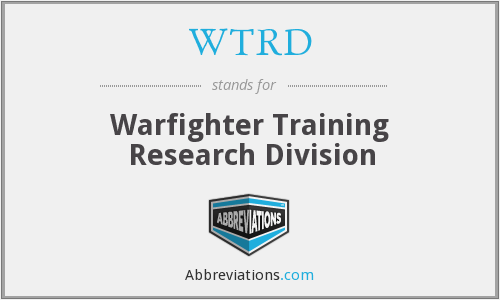 What does WTRD stand for?
