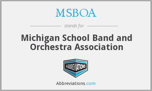 What does MSBOA stand for?
