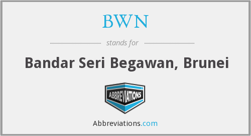 BWN - Bandar Seri Begawan, Brunei
