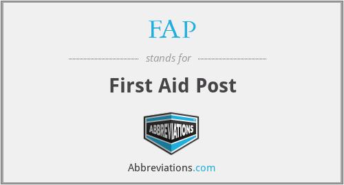 FAP - First Aid Post