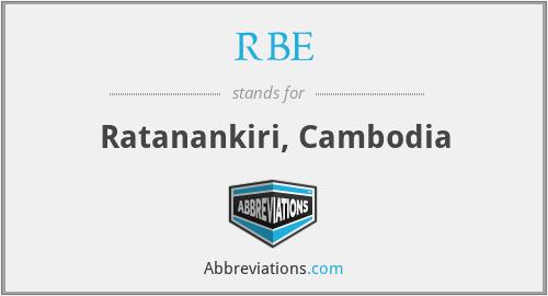 RBE - Ratanankiri, Cambodia