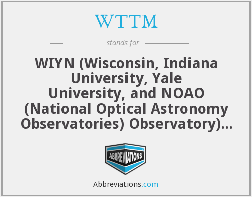WTTM - WIYN (Wisconsin, Indiana University, Yale University, and NOAO (National Optical Astronomy Observatories) Observatory) Tip-Tilt Module