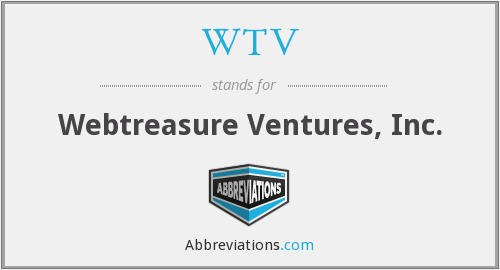 WTV - Webtreasure Ventures, Inc.