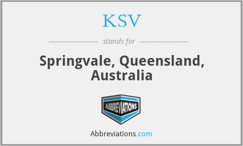 KSV - Springvale, Queensland, Australia
