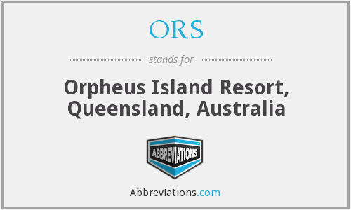 ORS - Orpheus Island Resort, Queensland, Australia