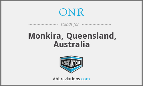 ONR - Monkira, Queensland, Australia