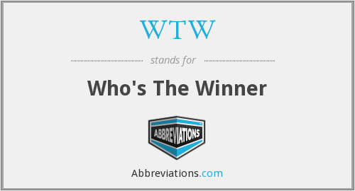 WTW - Who's The Winner