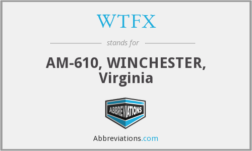 WTFX - AM-610, WINCHESTER, Virginia