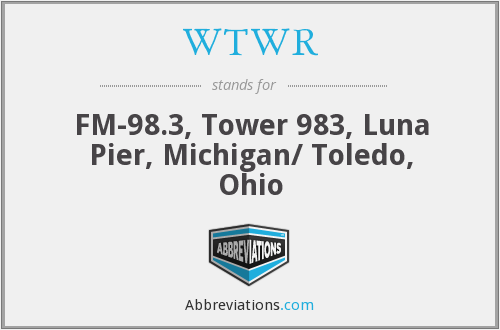 WTWR - FM-98.3, Tower 983, Luna Pier, Michigan/ Toledo, Ohio