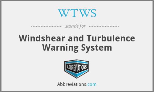 WTWS - Windshear and Turbulence Warning System