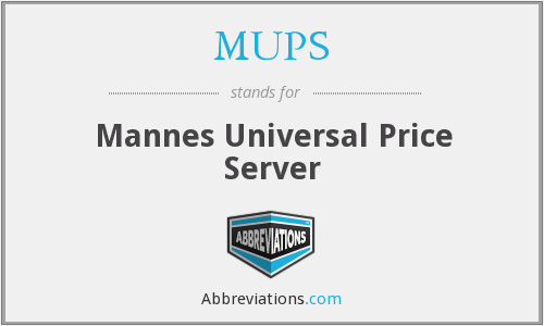 MUPS - Mannes Universal Price Server