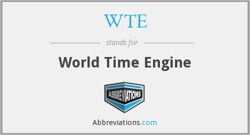 WTE - World Time Engine