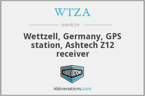 What does WTZA stand for?
