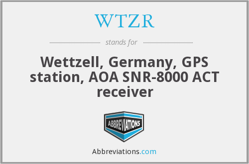 WTZR - Wettzell, Germany, GPS station, AOA SNR-8000 ACT receiver