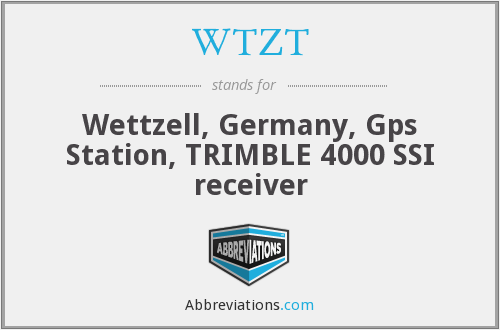 WTZT - Wettzell, Germany, Gps Station, TRIMBLE 4000 SSI receiver