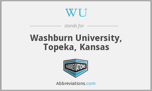 WU - Washburn University, Topeka, Kansas
