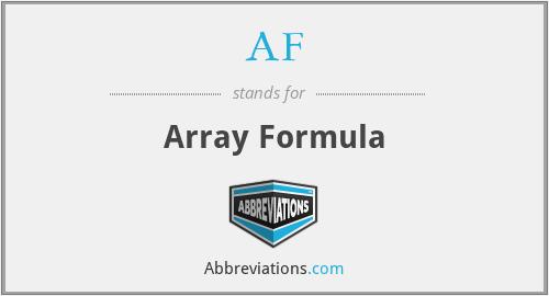 AF - Array Formula