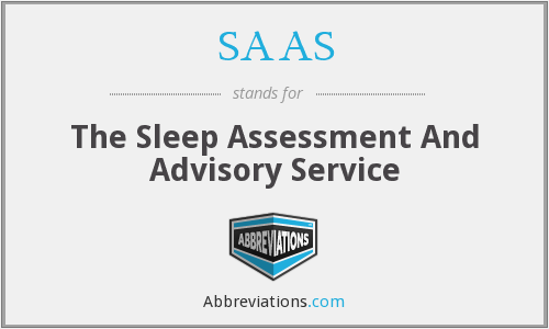 SAAS - The Sleep Assessment And Advisory Service