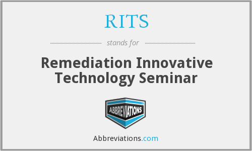RITS - Remediation Innovative Technology Seminar